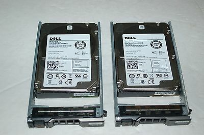 """Lot of 2 Dell Poweredge R610 SAS 2.5"""" 300GB 10K.5 Hard Drive 0745GC in Caddy 6G"""