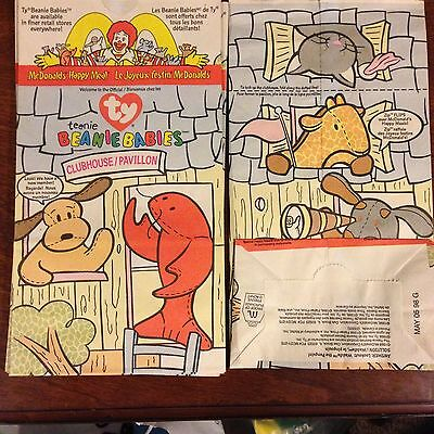 4d3b6984cbe MCDONALDS TY TEENIE Beanie Babies Happy Meal Bags (9) -  9.99