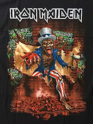 IRON MAIDEN Book of Souls North America Tour T-Shirt Men's LARGE BRAND NEW