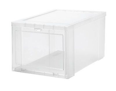 IRIS Small Drop Front Shoe Box, 6 Pack, Clear