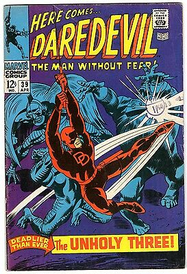 Daredevil #39. Vol1. Marvel Apr 1968. Lee, Colan. VG/VG+