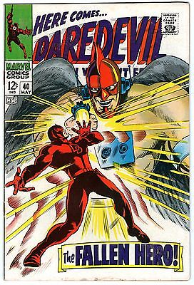 Daredevil #40. Vol1. Marvel May 1968. Lee, Colan. FN-