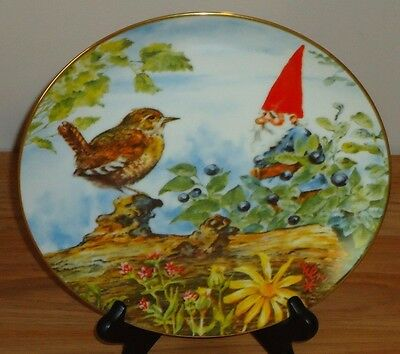 "GNOME ""The Berry Pickers"" by Rien Poortvliet PLATE Gnomes 4 Seasons..Summer"