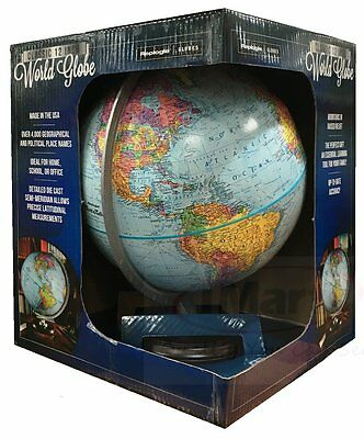 Replogle Classic 12 Inch World Globe ideal for home school or office Brand New