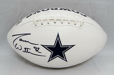 Jason Witten Autographed Dallas Cowboys Logo Football with JSA Witnessed Auth