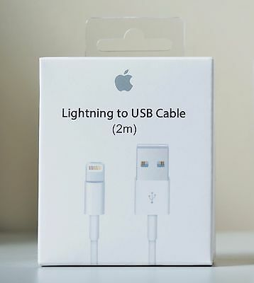 New 2M 6Ft Lightning to USB Data Charger Cable for Apple iPhone 5, 6, 7, 7 Plus