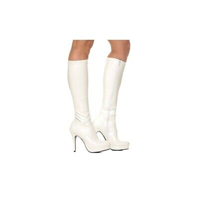 White Knee High Adult Boot