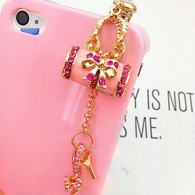 Small Décor Cellphone Accessory Handbag Shoe Pattern Earphone Dust Plug