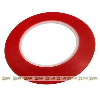 3M Adhesive Tape 5mm 25m Grade A Clear Red Film Sticker Double Side 0.5cm