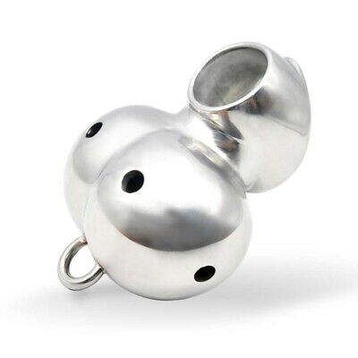 New Stainless Steel Male Chastity Device Cage Ball Stretcher Enhancer Protector