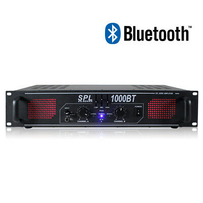 Skytec SPL Bluetooth Audio Streaming Amplifier DJ Disco Party Amp EQ 2 x 500W