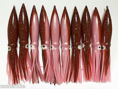 """10//PK COT BULB SQUID 6/"""" GREAT FOR DAISY CHAIN BAR RIGS PINK//WHITE"""