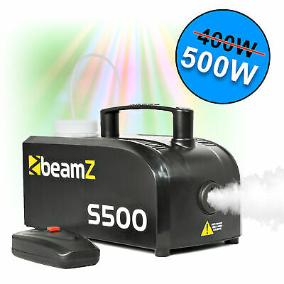 Beamz 500W Smoke Fog Machine DJ Disco Party Compact with Wired Remote Control
