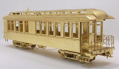 On3 BRASS HALLMARK D&RGW/COLORADO & SOUTHERN #911 BUSINESS CAR PAINTED