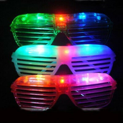 LED Light Shutter Glasses Party Supplies Electronic Flashing Transparent Glasses