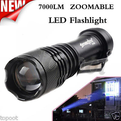 Super Bright 7000LM CREE Q5 AA/14500 3 Modes ZOOMABLE LED Flashlight Mini Torch