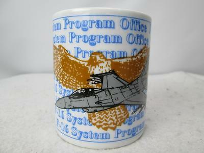 F-16 System Program Office Coffee Mug Cup USAF Airplane Eagle Graphics White