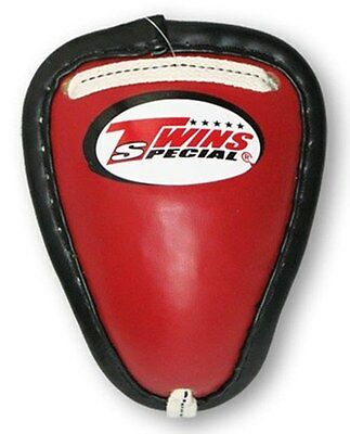 New Twins MMA Muay Thai Boxing Cup Metal Groin Protectors GPS-1 Red Size L