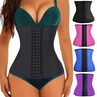 Sport Body Shaper Waist Trainer Workout Corset Cincher Latex Rubber US Belt WXGR