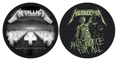 Metallica Master Of Puppets And Justice For All Pair Record Turntable Slipmat