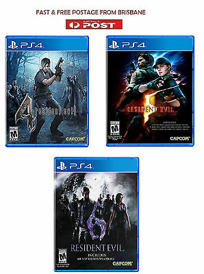 Resident Evil 4 5 6 IV V VI Bundle PS4 Brand New * AU STOCK*