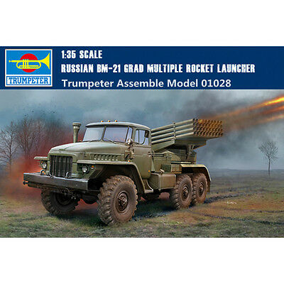 Trumpeter 01028 1/35 Scale Russian BM-21 Grad Multiple Rocket Launcher Model Kit