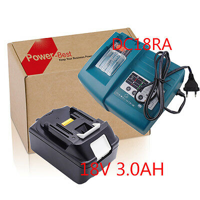 18V Batterie Makita BL1830 LXT Lithium-ion 3.0Ah + chargeur DC18RC Set 100% New