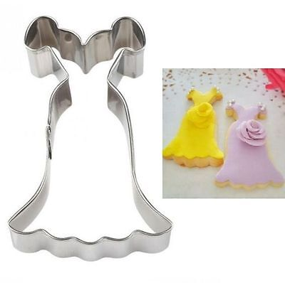 Stainless Steel Cookie Cutter Wedding Dress Cake Biscuts Cutter Fondant  Mold