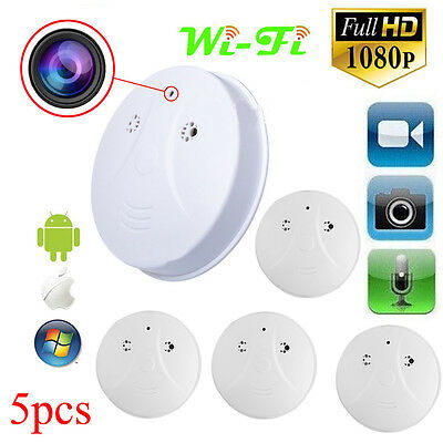 5 X Mini HD DVR Hidden Camera Smoke Detector Motion Detection Video Recorder Cam
