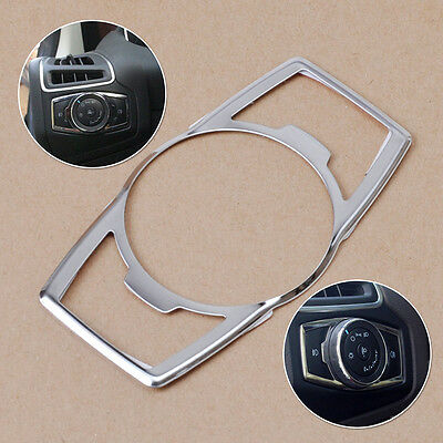 Chrome Fog Head Light Switch Button Cover fit Ford Focus Escape Kuga 2013 2014