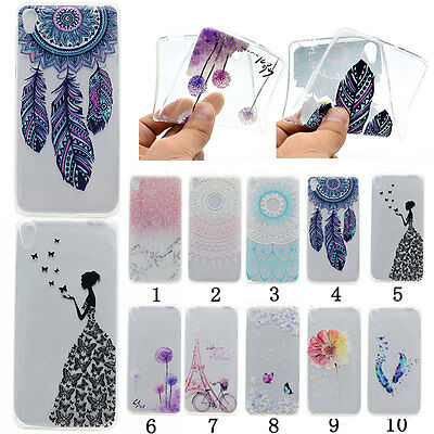 Back Pattern Soft TPU Silicone Light Thin Case Cover Skins For Sony Xperia Phone