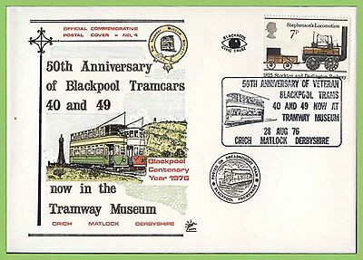 G.B. 1976 50th Anniversary of Blackpool Tramcars commemorative cover
