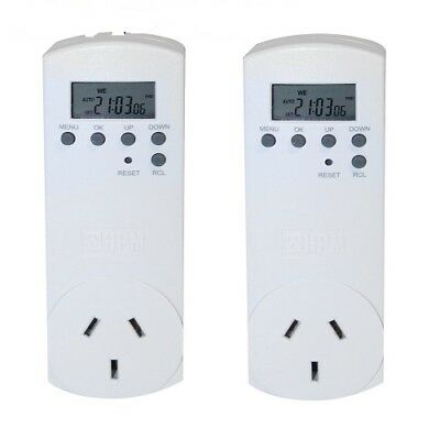 HPM 7 Day Digital Timer pk of two