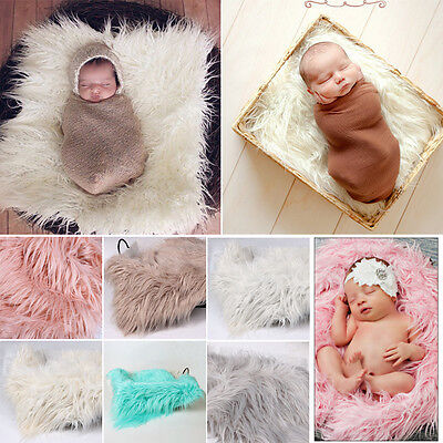 Newborn Baby Photography Photo Props Backdrop Soft Blanket Rug Costume XN