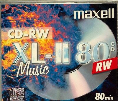 Maxell Xl-Ii 80 Branded Digital Audio 80Min Cd-Rw In Jewel Case