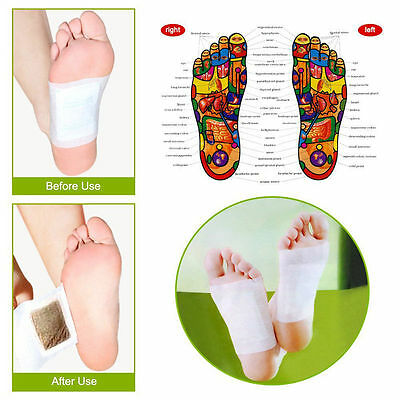 30pcs Detox Foot Pads with Adhesive Bamboo Pads Stickers Sleep Slim Health Care