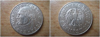 J352   2  Mark DRITTE REICH Luther  1933 F in VZ  402045-46