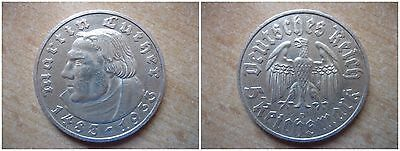 J353   5  Mark DRITTE REICH Luther  1933 D in SS-VZ  402055