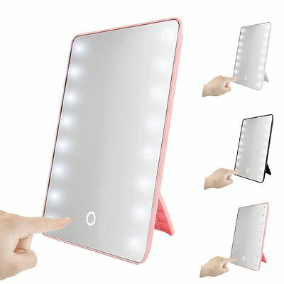 16LED Touch Screen Lighted Cosmetic Makeup Vanity Mirror with Light Dimmer Stage
