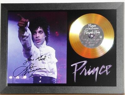 PRINCE 'Purple Rain' Gold Disc Presentation