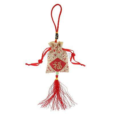Chinese Knot FU Lucky Sachet Charm Car Hanging Decor New Year Gfit #A