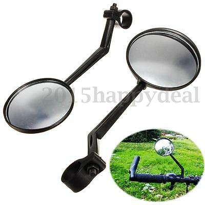 Pair Bicycle Ride Bike 360° Rotate Handlebar Rear View Safety Mirror Driving