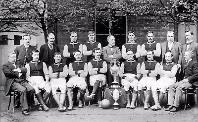 Aston Villa FC Football Team 1896 12x7 Inch Reprint Photo