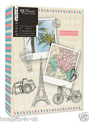 Travel Photo Album (6'' x 4'') Holds 80 Photos Gift Picture Photo Book