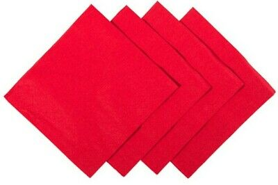250 x  2Ply Red Cocktail Bar Party Napkins 24cm Serviettes Fit in Bar Caddies