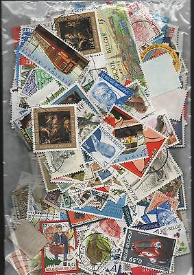 Belgium Kiloware off paper 50gms fine used excellent selection 150+ stamps