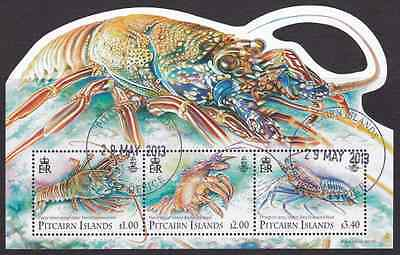 PITCAIRN ISLANDS - 2013 - Miniature Sheet: Lobsters. Fine used