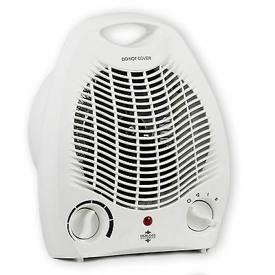2kw 2000w Portable Electric Upright Adjustable Silent Fan Heater Hot Cold Small