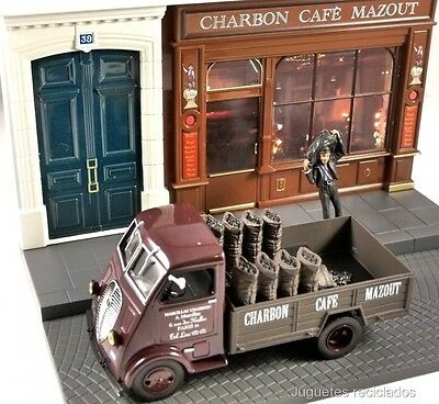 1/43 Peugeot Dma Charbon Cafe Mazout Diorama Ixo Altaya Diecast