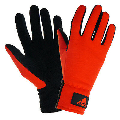 Adidas ClimaHeat Running Cycling Training Mens Fleece Thermal Warm Gloves